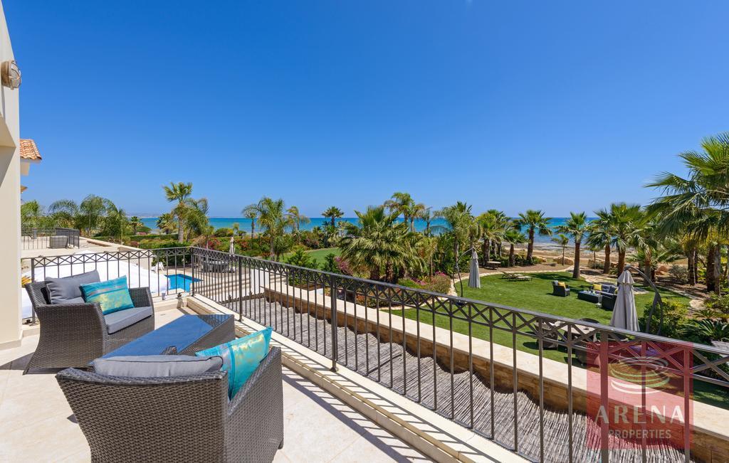 seafront villa in ayia thekla - balcony