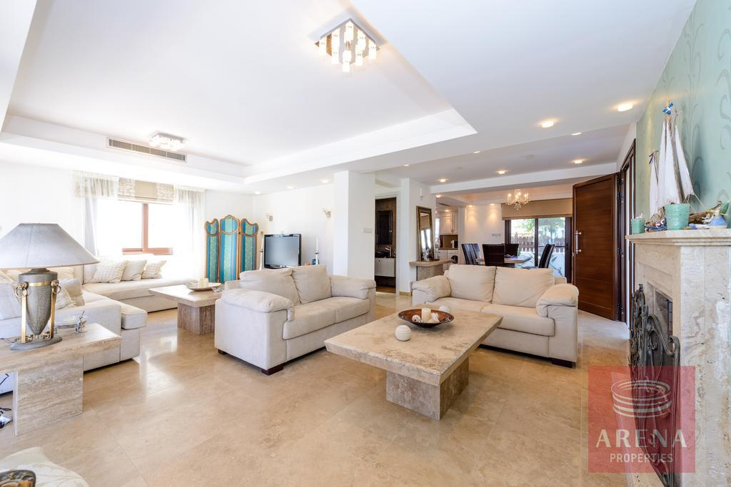 seafront villa in ayia thekla - living room