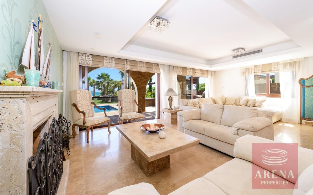 villa in ayia thekla - living room