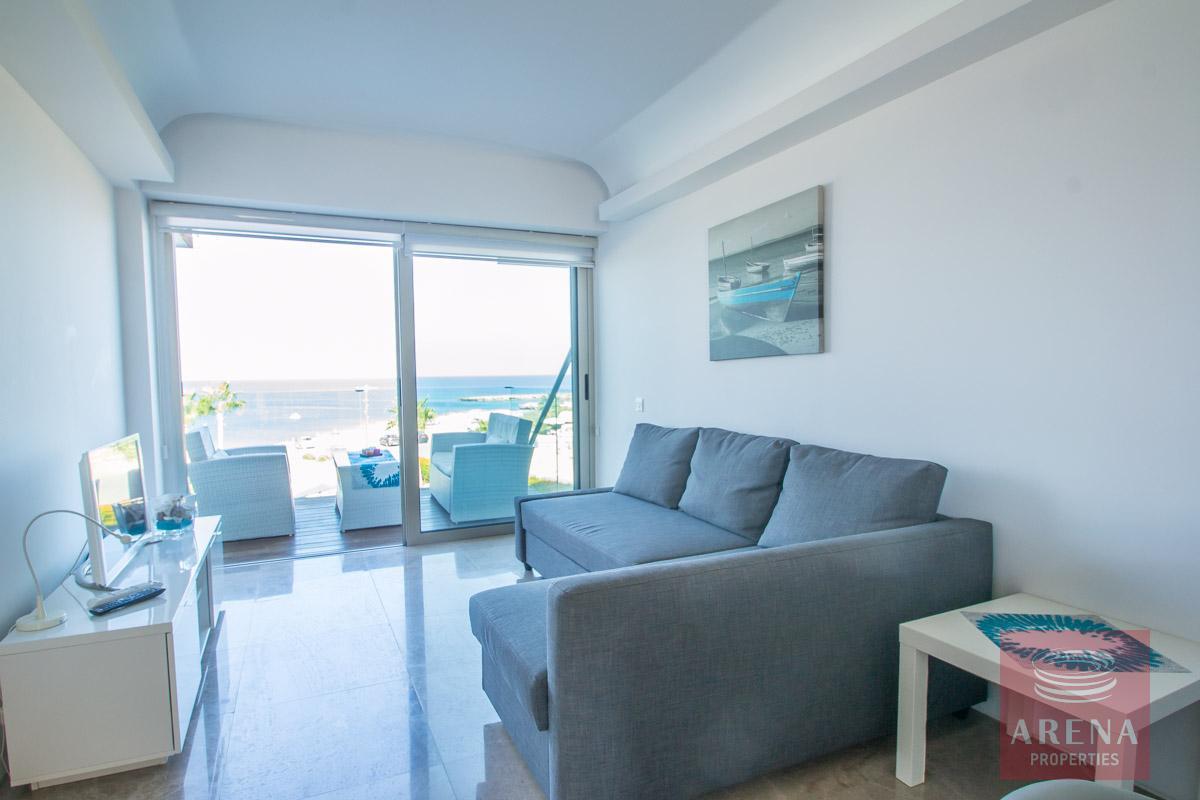 beachfront apartment in Protaras - sitting area