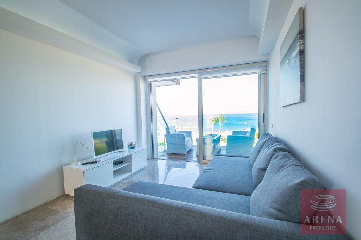 beachfront apartment in Protaras - living area