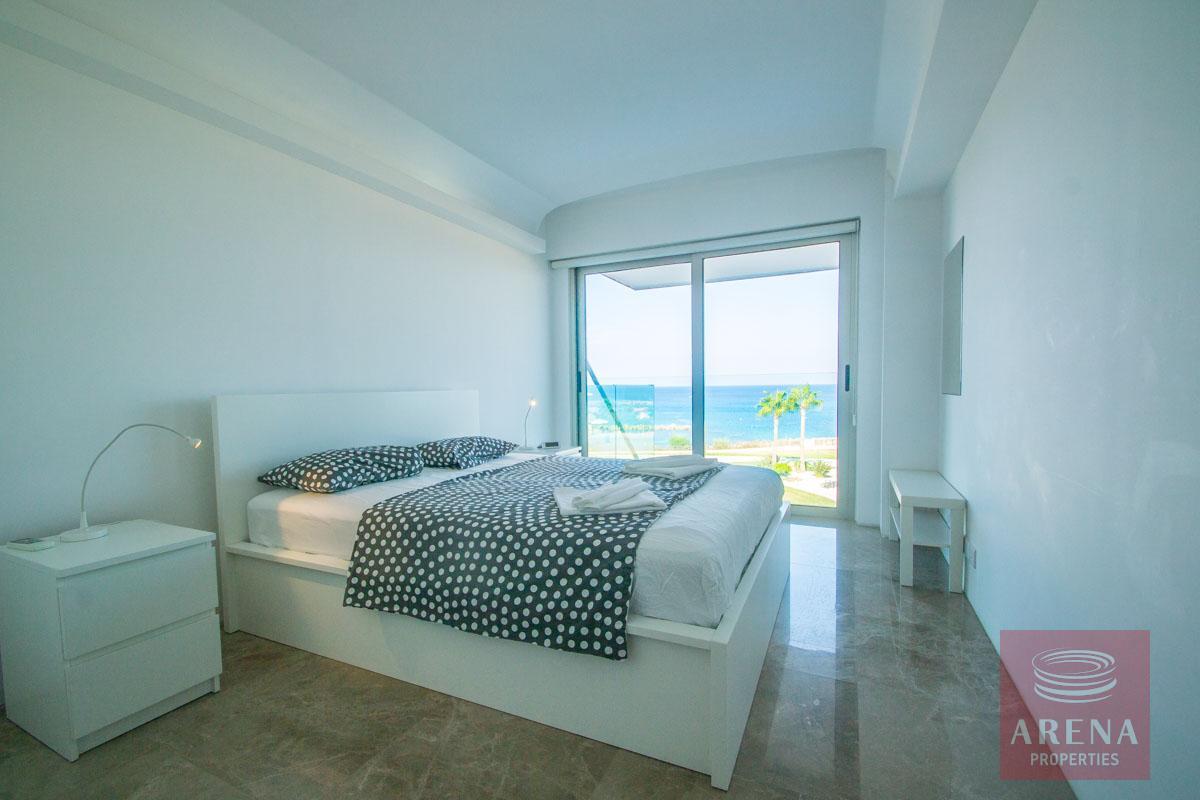 beachfront apartment in Protaras - bedroom