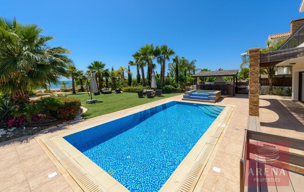 seafront villa in ayia thekla - pool
