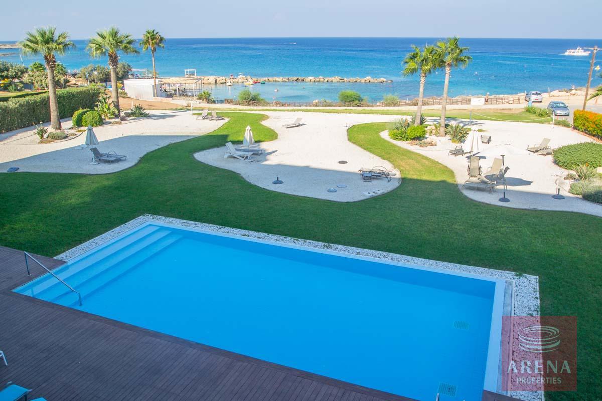 beachfront apartment in Protaras for sale - pool