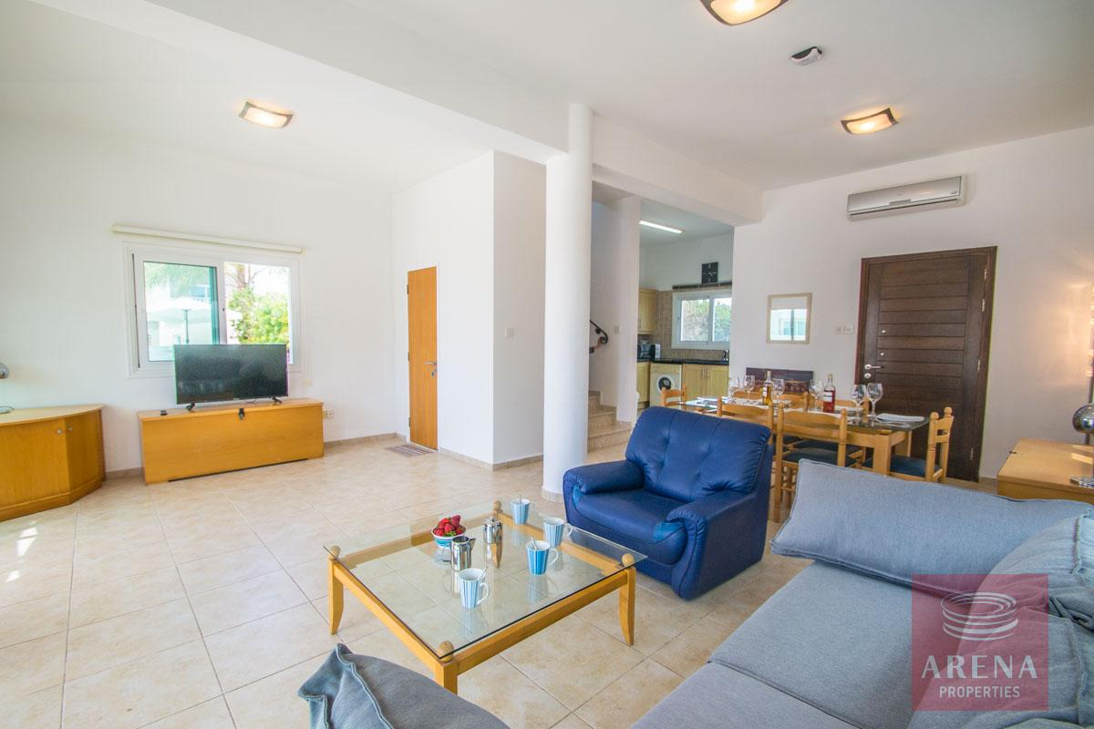 4 bed villa in ayia thekla - living area