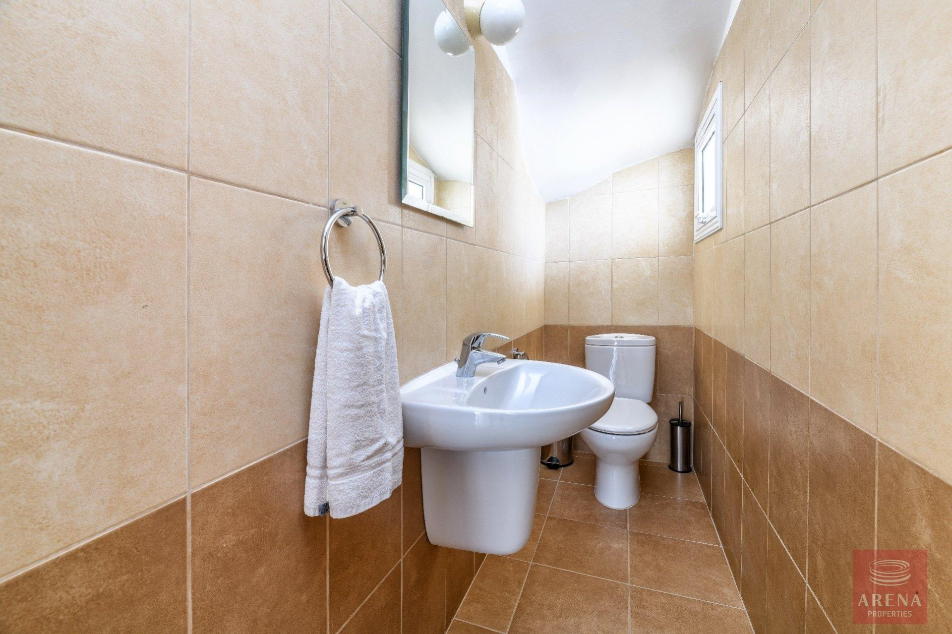 semi-detached house in paralimni - guest wc