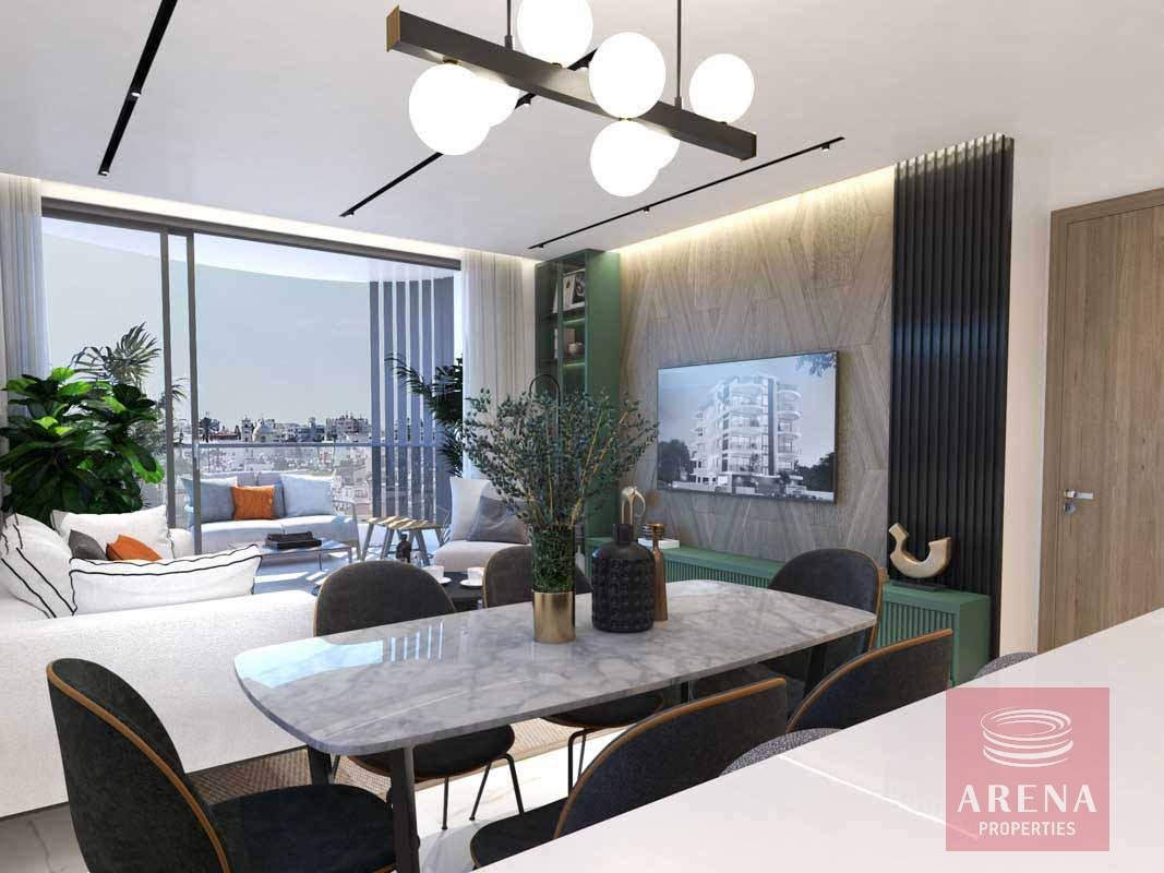2 Bed flats in Larnaca - dining area