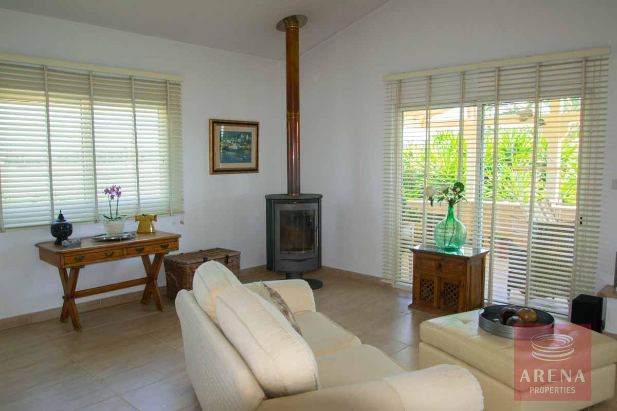 villa in softades - living room