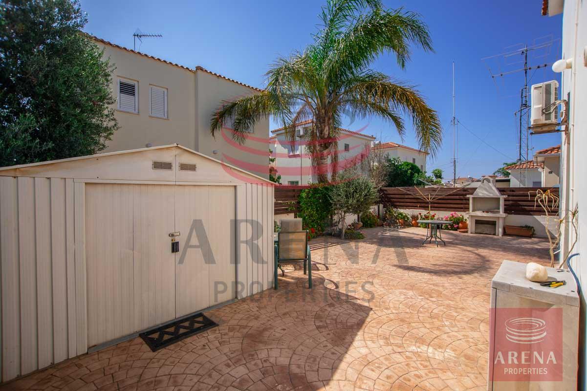 3 Bed villa in Sotira - back yard