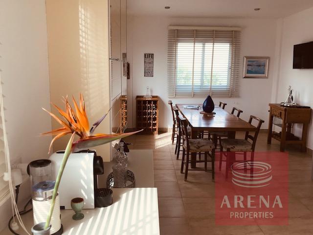 villa in softades - dining area