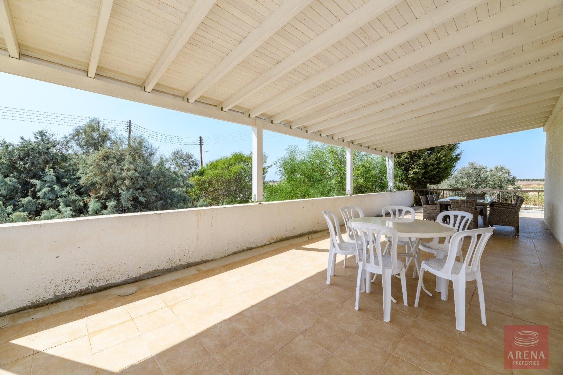 semi-detached house in paralimni for sale - veranda