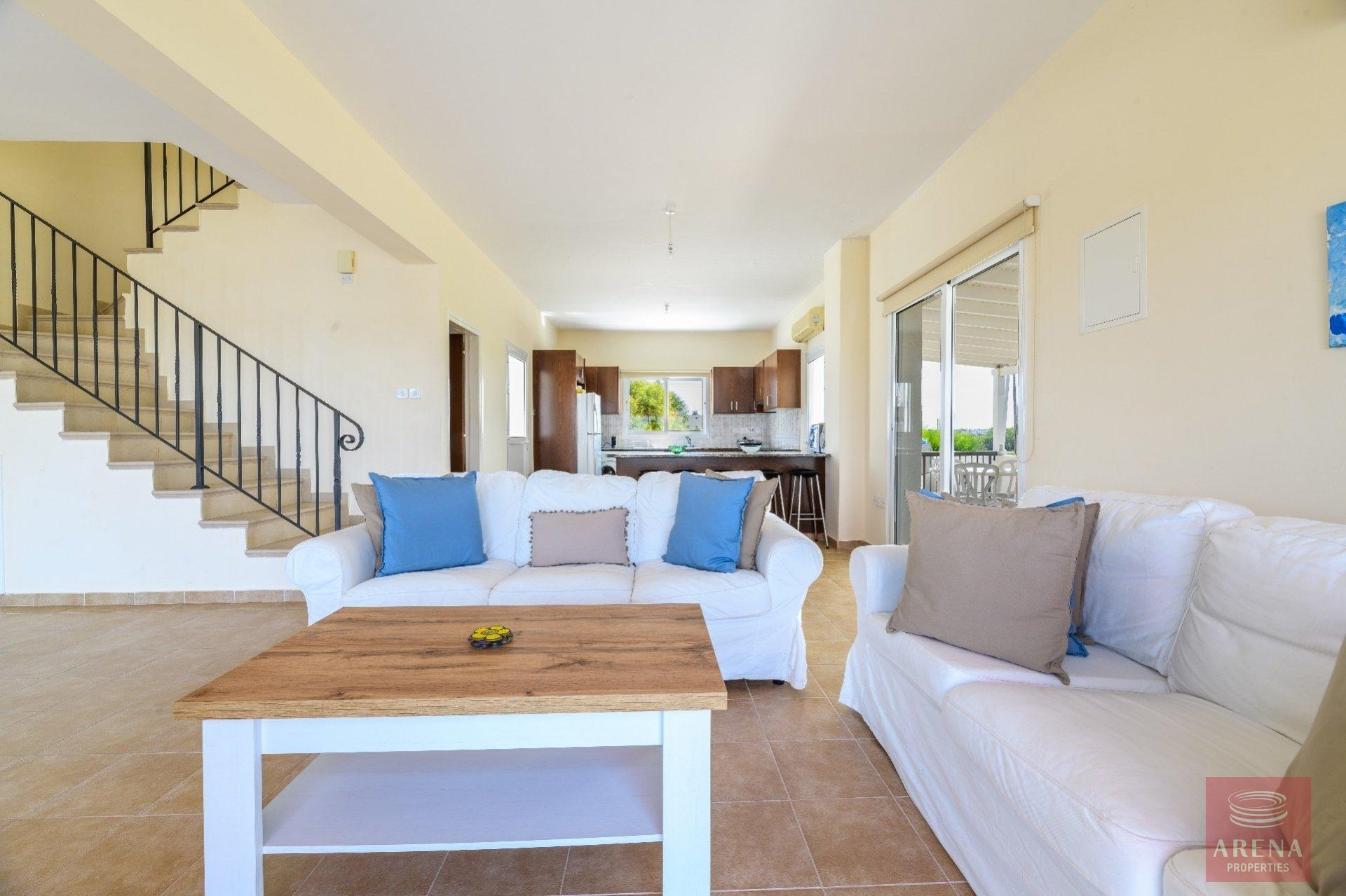 semi-detached house in paralimni - sitting area