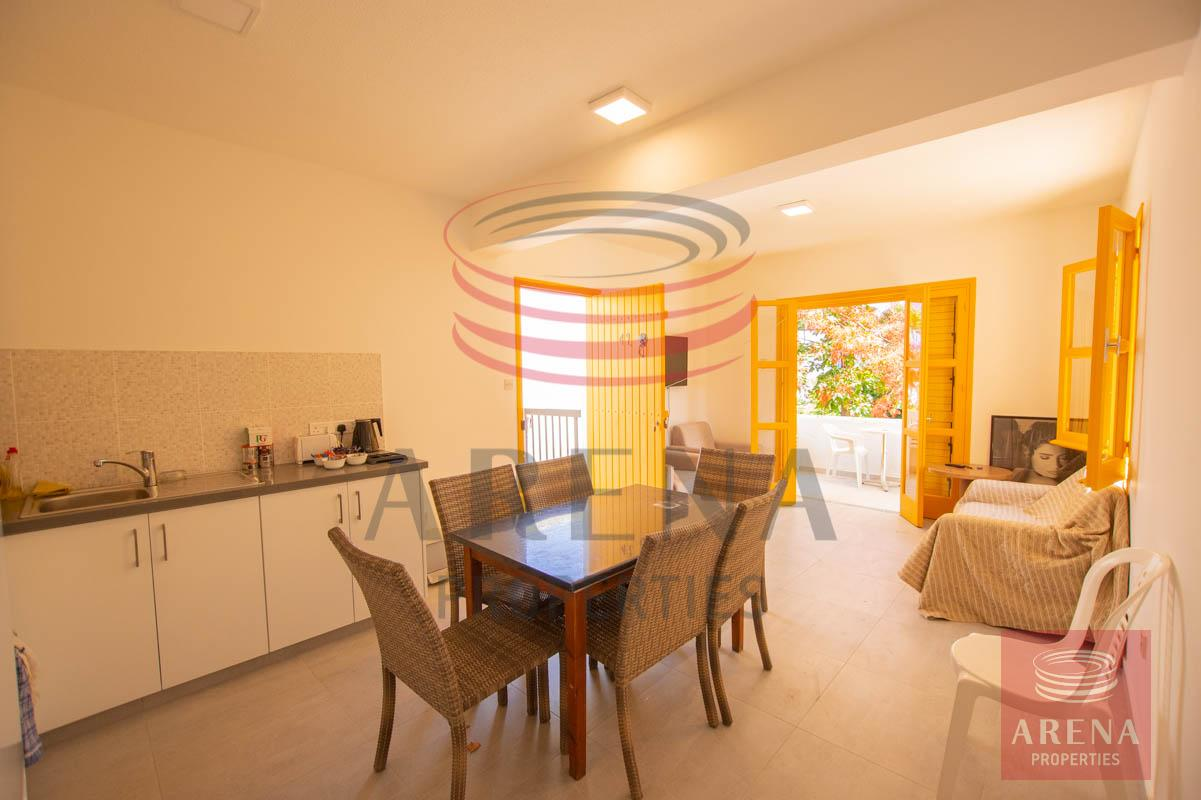 Apartment for rent in Paralimni -dining-kitchen