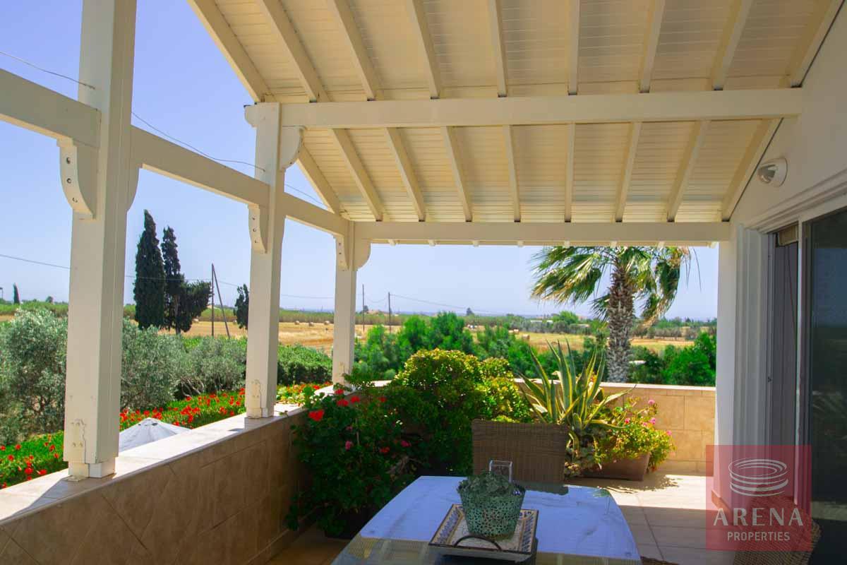 villa in softades - veranda