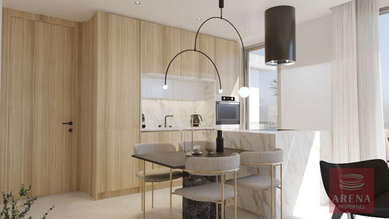 1 bed apt in drosia - kitchen