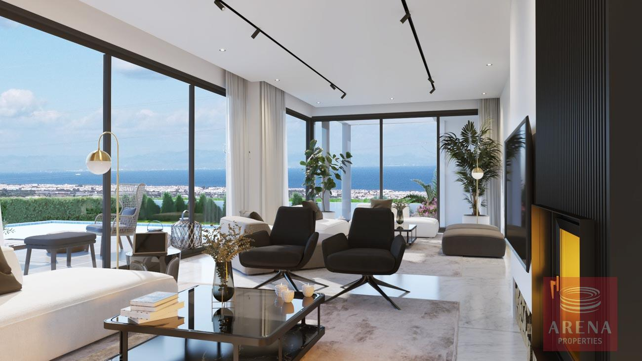 4-5 Bed villa in Protaras - living area