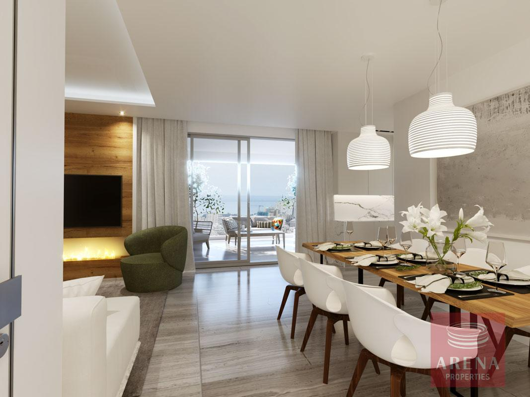 2 Bed Penthouse in Larnaca for sale - dining area