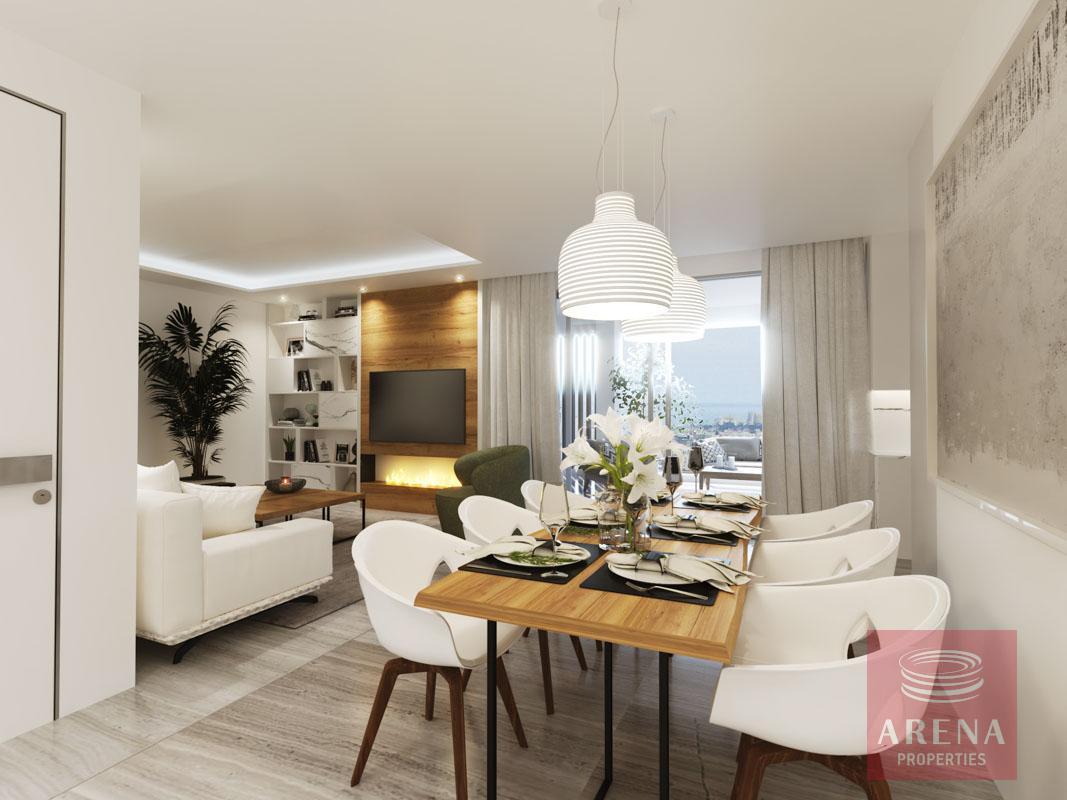 penthouse in larnaca - dining area