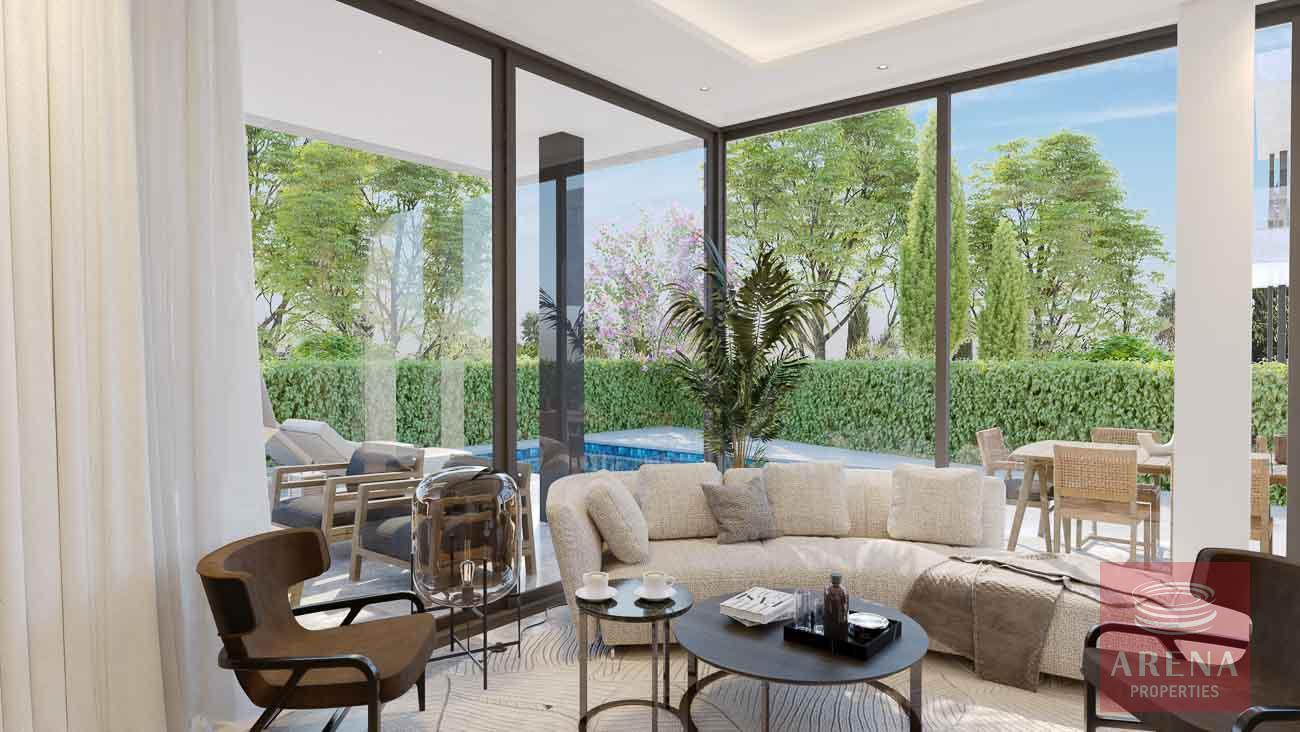 New villa in Ayia Triada - living area