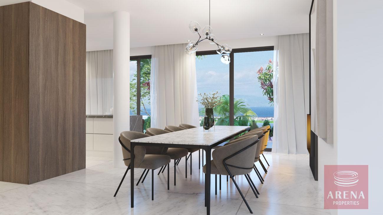villa in protaras for sale - dining area