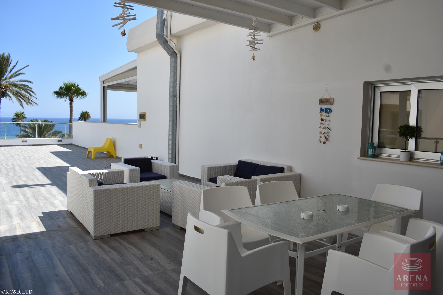 Seafront Apartment in Protaras - veranda