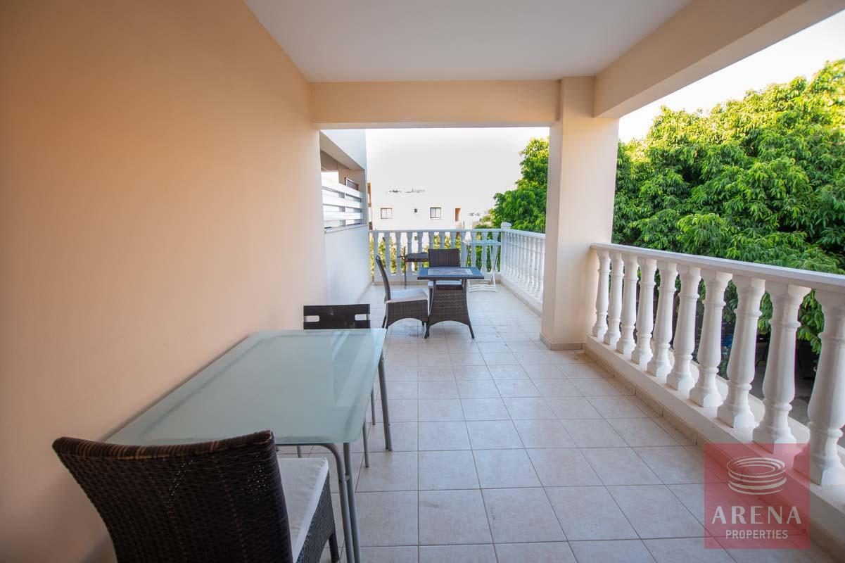 Apartment for rent in Kapparis - veranda