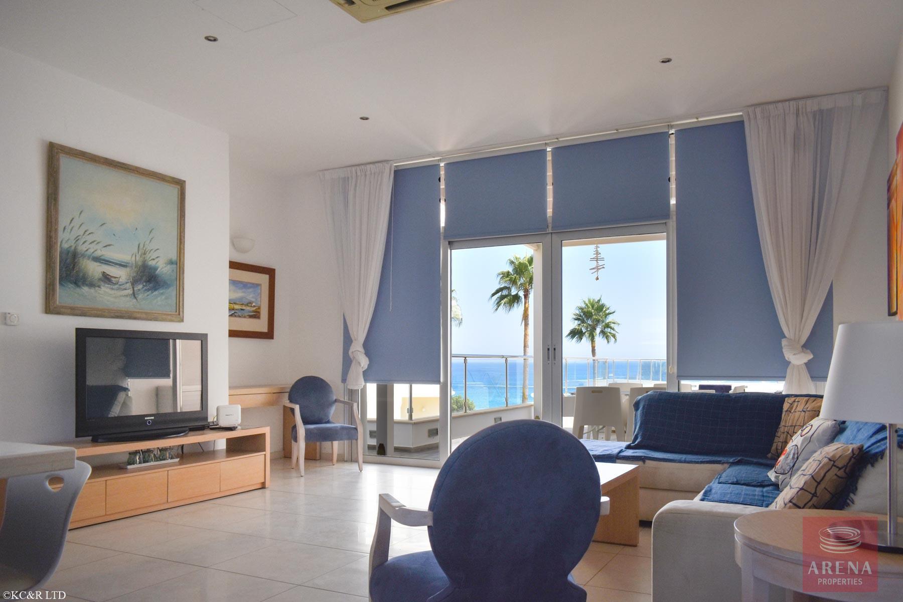 Seafront Apartment in Protaras - living area