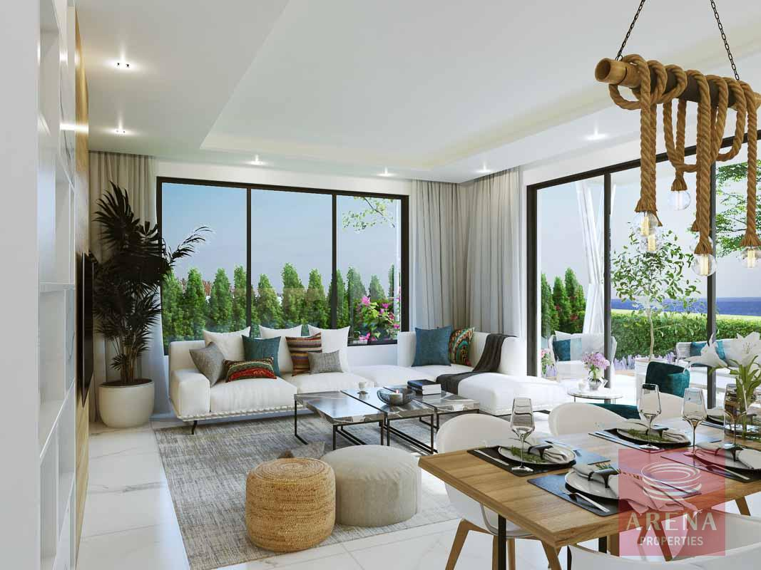 New villas in Protaras - living area