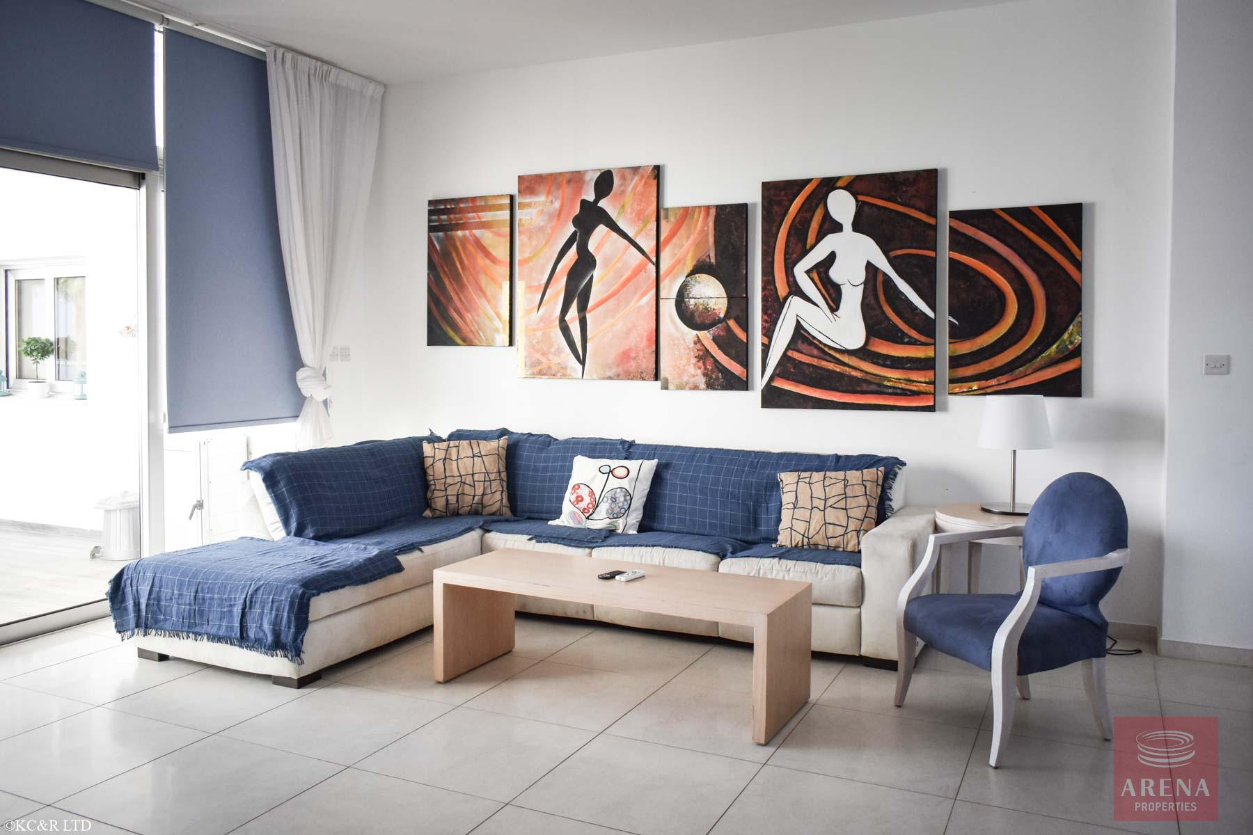 Seafront Apartment in Protaras for sale -sitting area