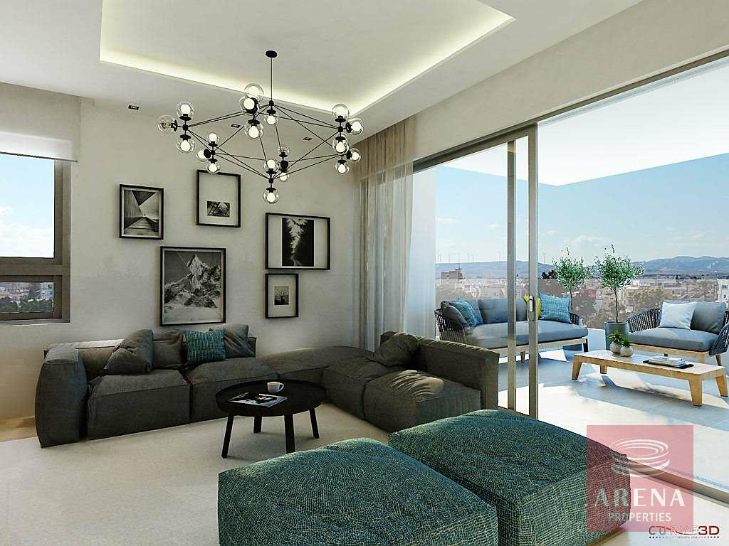 Apartments for sale in Larnaca - sitting area