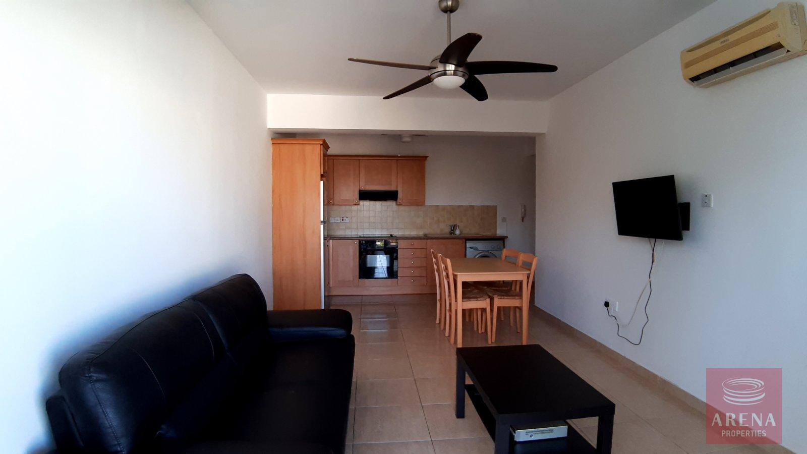 2 Bed Apt for rent in Paralimni - living area