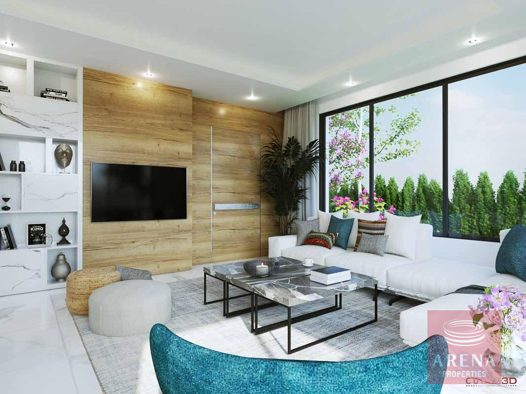 New villas in Protaras - sitiing area