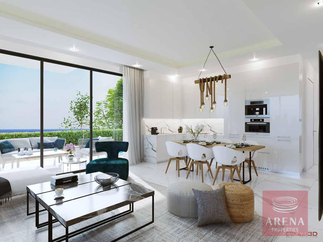New villas in Protaras - dining area