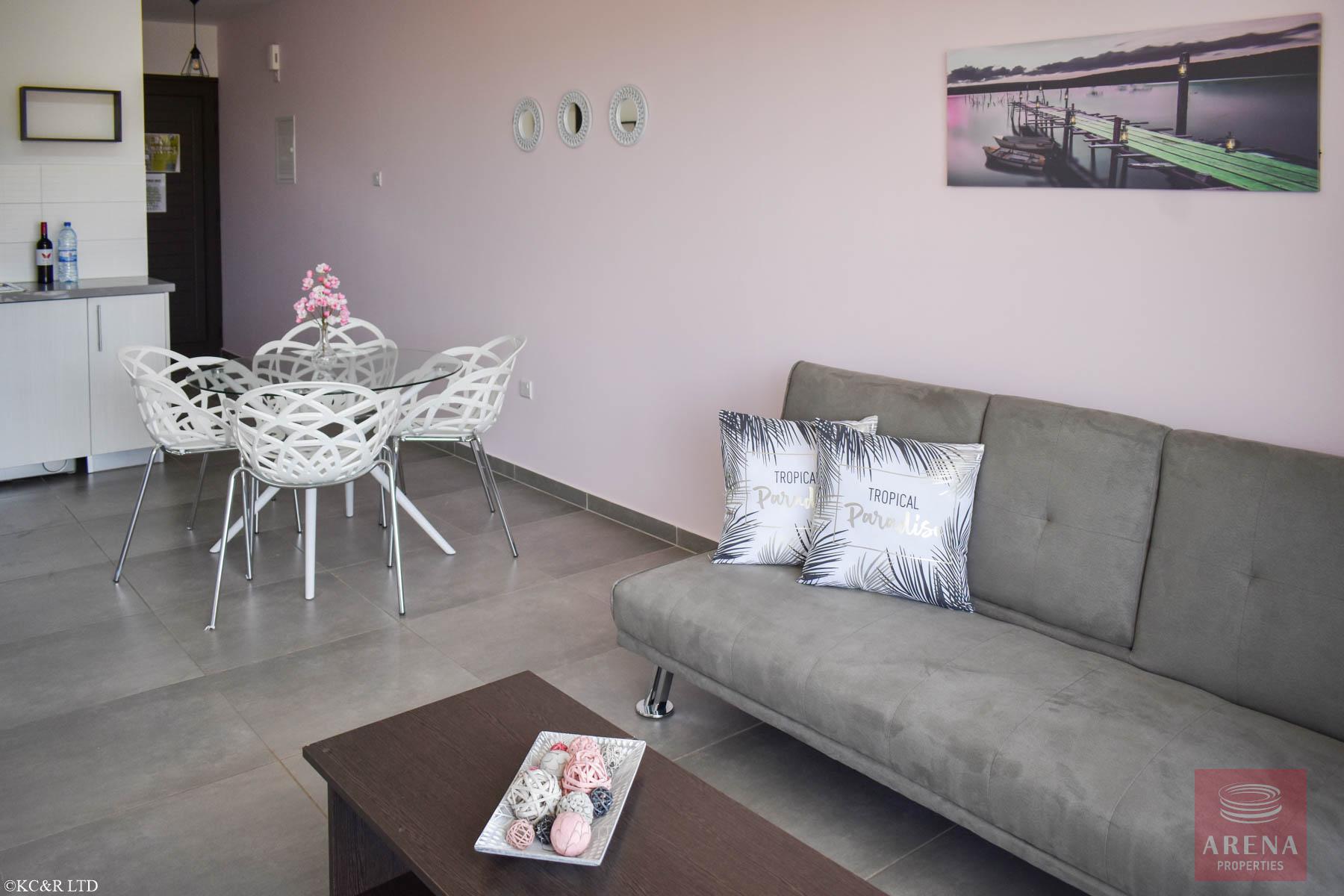 Beautiful Flat in Kapparis for sale - sitting area