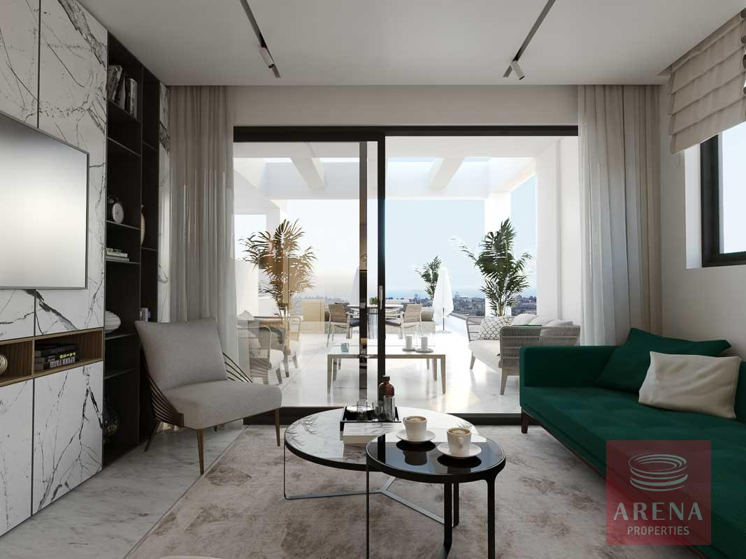 3 bed apt in sotira for sale - living area