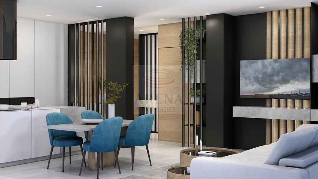 New 3 bed apt in Larnaca for sale - dining area