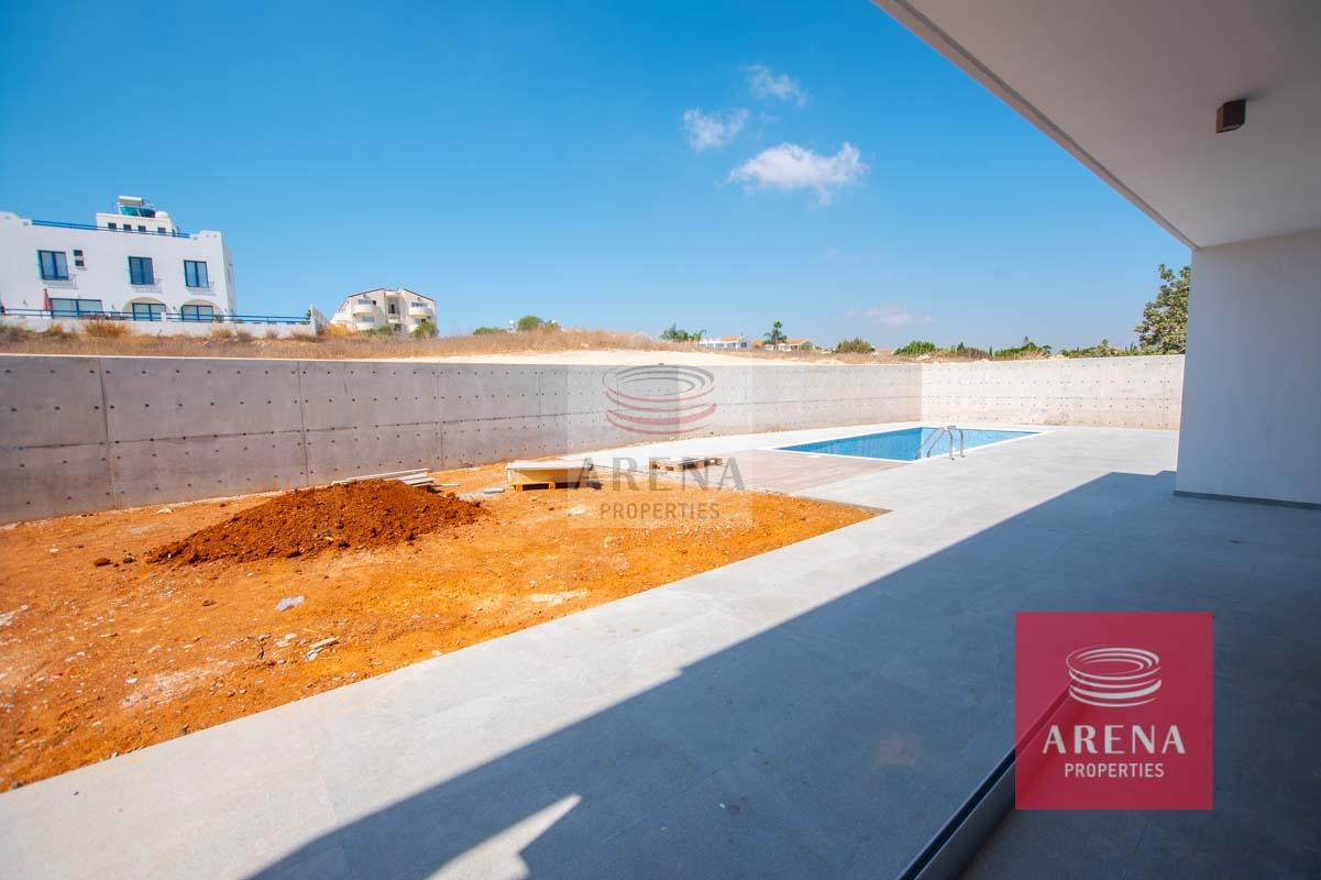 New Villa in Protaras - pool area