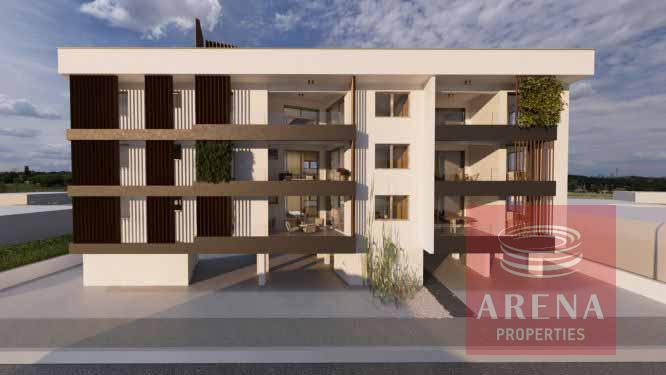 new 2 bed apt in Derynia for sale