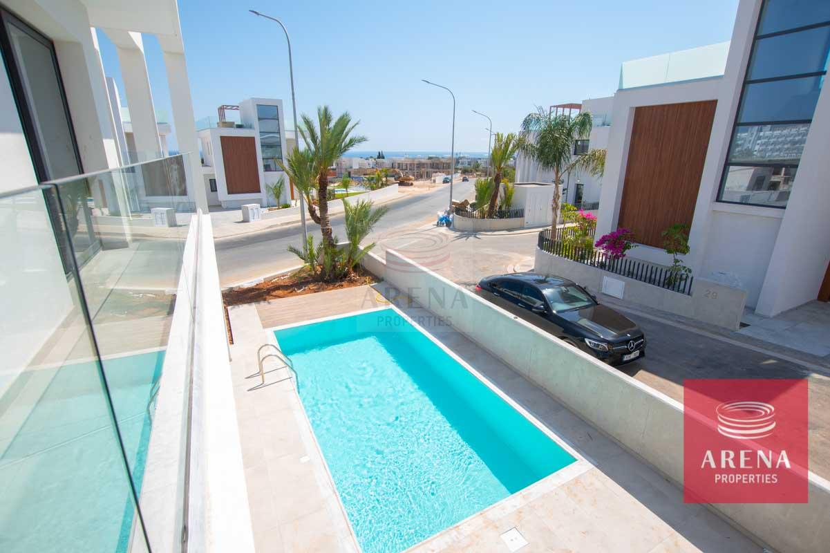 Modern Villa in Protaras - view from the balcony