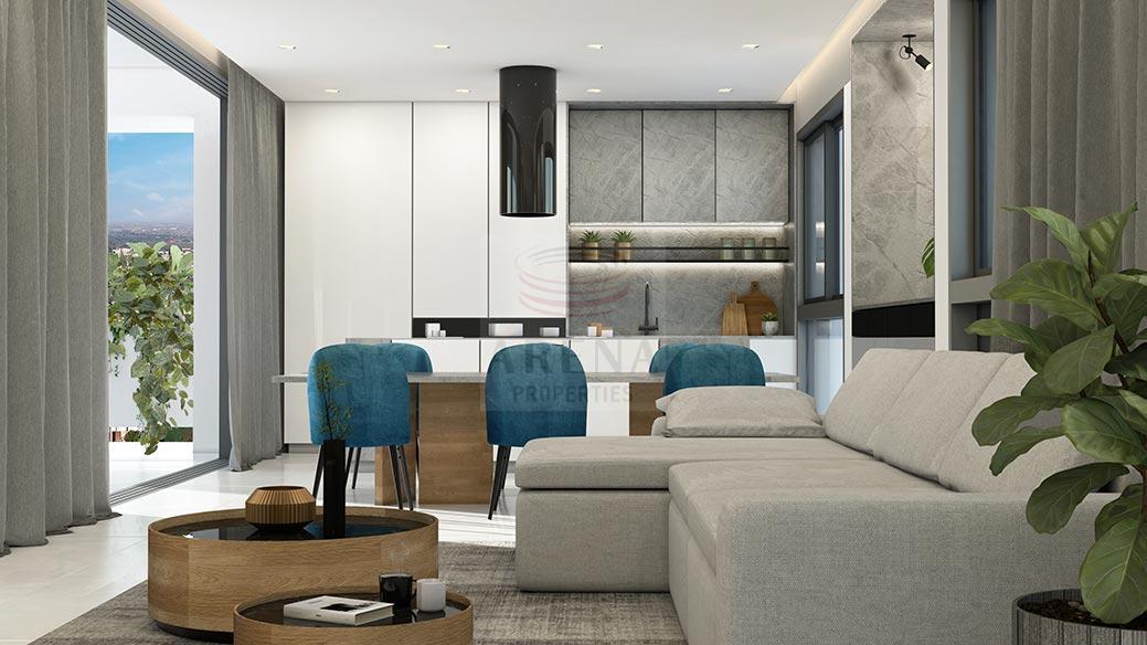 New 3 bed apt in Larnaca -living area