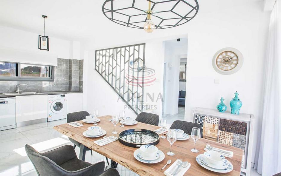 2 bed det villa in kapparis - dining area