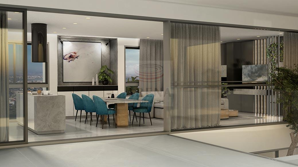 New 3 bed apt in Larnaca for sale - living area