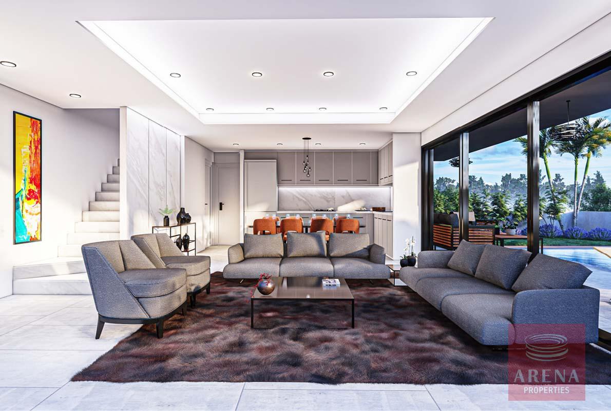 3 bed villa in Livadia - living area