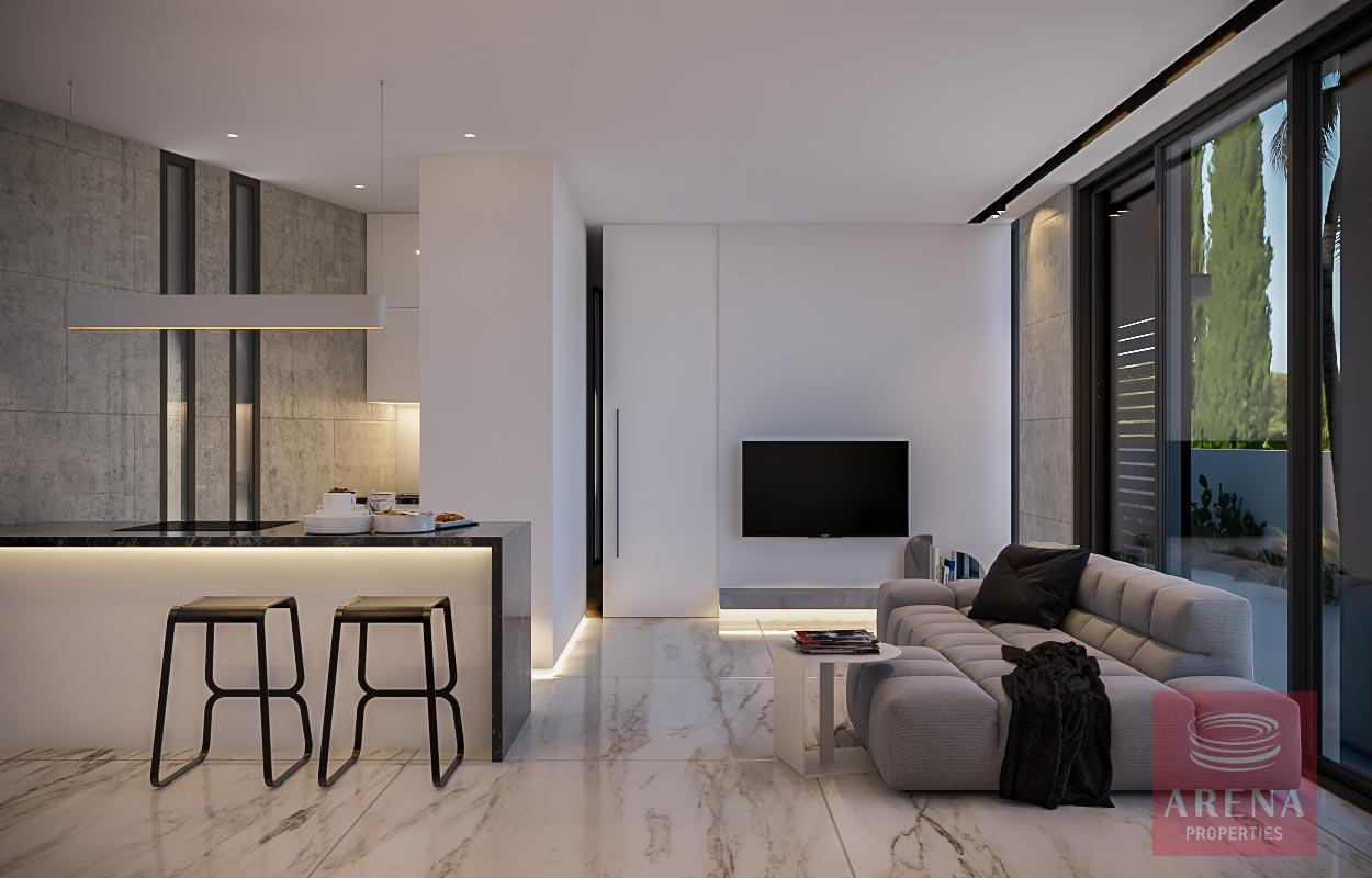 Modern apt in Kapparis - living area