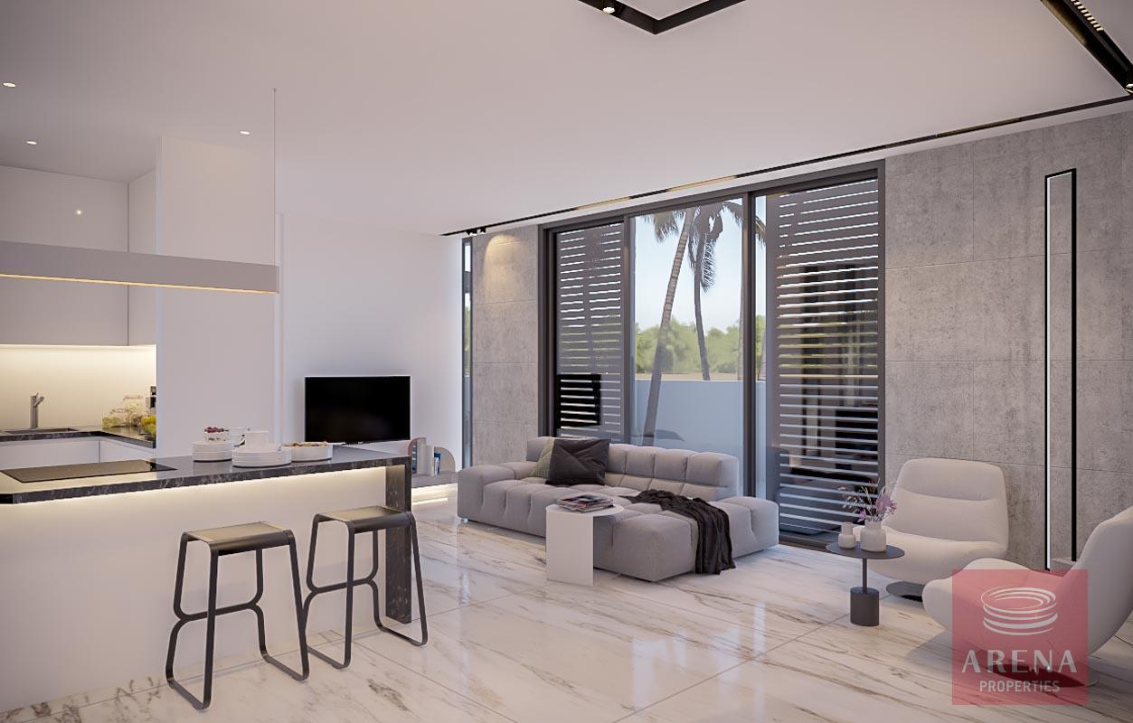 Modern apt in Kapparis for sale - living area
